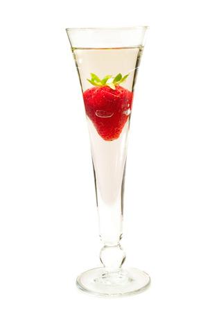 liqueur: Ingredients: Champagne 1 oz strawberry liqueur