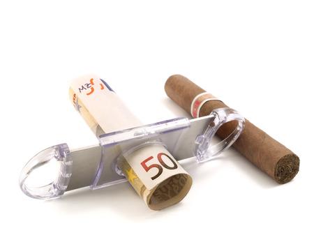 50 euro: Cigar and 50 euro