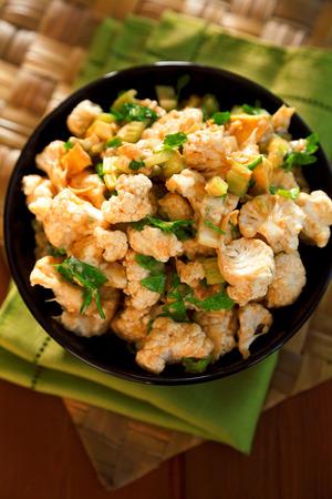 coliflor: Cauliflower salad Foto de archivo