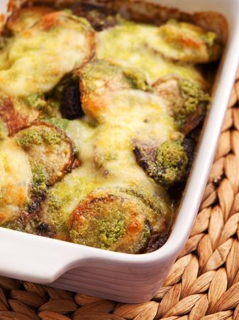 casserole: Zucchini casserole with mozzarela and basil