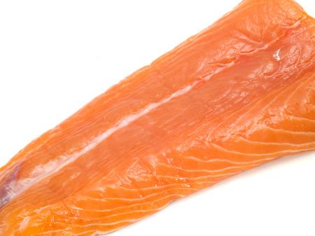 unprepared: Salmon Steak (unprepared) Stock Photo