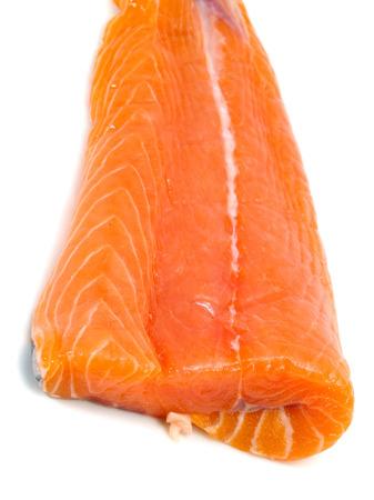 unprepared: Salmon Steak (unprepared) isolated on white background