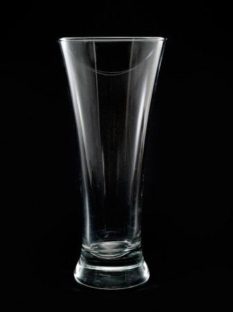 highball: Empty Highball Glass isolated on black background Stock Photo
