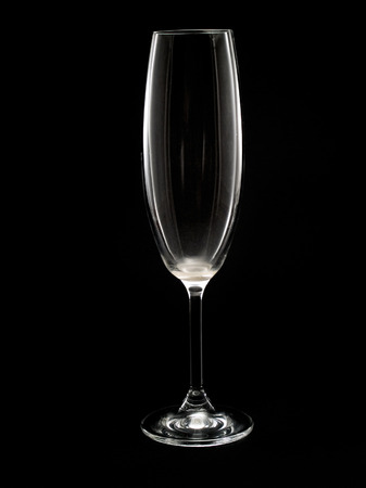 champagne flute: Empty Champagne Flute isolated on black