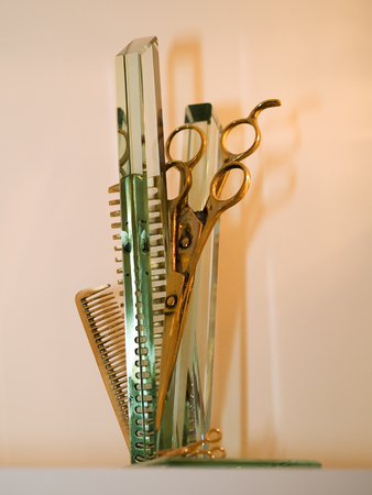 haircutting: Combs and scissors