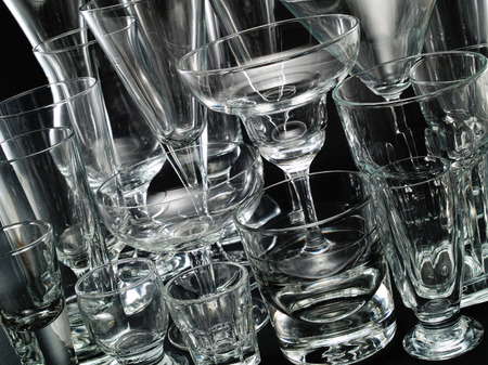 cocktail glasses: Various Empty Cocktail Glasses