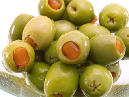 sweet vermouth: Martini Glass with Olives Shot