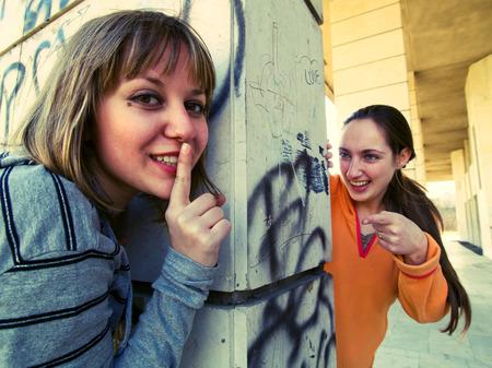 cross processed: Teenage girls outdoors