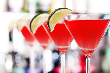 Cocktails collection - Cosmopolitan Lizenzfreie Bilder