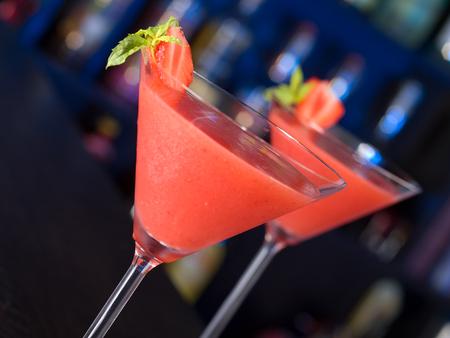 daiquiri: Cocktails Collection - Strawberry Daiquiri Stock Photo