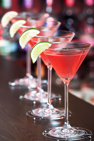 cosmopolitan: Cocktails collection - Cosmopolitan Stock Photo
