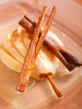 rum: Pears with rum and cinnamon