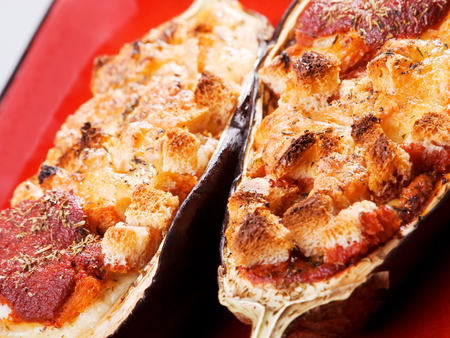 portion: Stuffed eggplants (greek cuisine), one portion