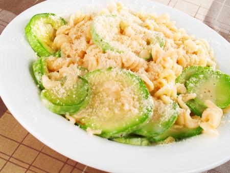 fusilli: Fusilli with zuchinni and parmesan