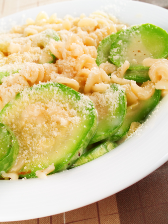 Parmesan: Fusilli with zuchinni and parmesan