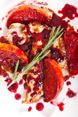 cranberries: Turkey in orange sauce with cranberries
