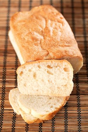 ciabatta: Homemade Ciabatta bread isolated