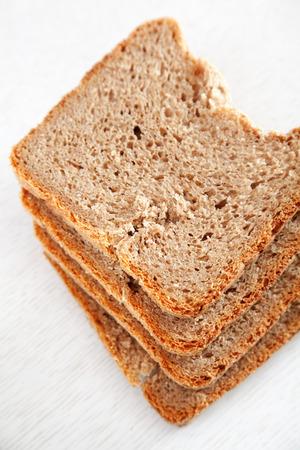 rye bread: Homemade rye bread cut into slices