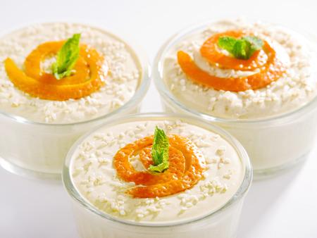 creamy: Creamy Tahini Dessert Stock Photo