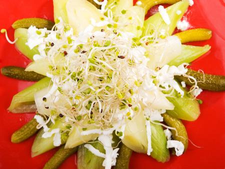 marinated: Salad with marinated cucumbers