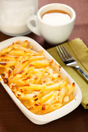 tallarin: Al horno macarrones y queso