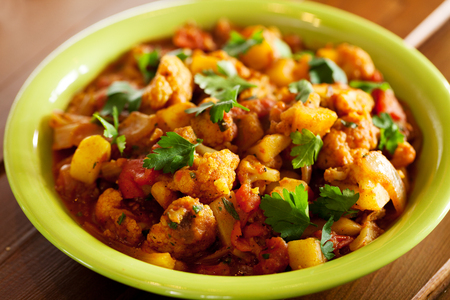 gobi: Gobi Aloo is famous Indian curry dish with potatoes and cauliflower