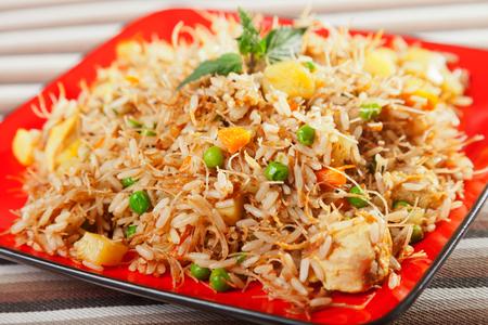 biryani: Chicken Biryani, typical indian food recipe, cooked Stock Photo