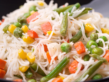 asian noodles: Asian noodles with vegetables