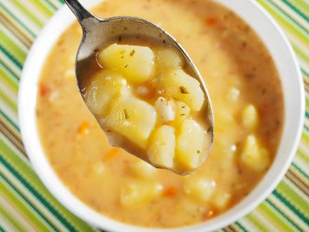 Potato soup Standard-Bild