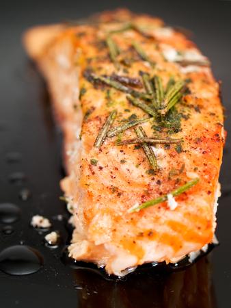 baked: Baked salmon Stock Photo