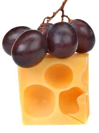 emmental: Emmental cheese with grapes
