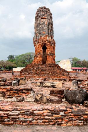 ayuthaya: Close up of Wat Chaiwattanaram ruins, Ayuthaya, Thailand