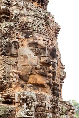 bayon: Faces in Bayon Temple at daylight, Angkor Wat, Cambodia