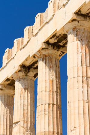 past civilizations: The Doric temple Parthenon at Acropolis hill. Athens, Greece.