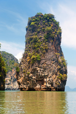 andaman sea: Khao Phing Kan is a pair of islands on the west coast of Thailand, in the Phang Nga Bay, Andaman Sea, near Phuket.