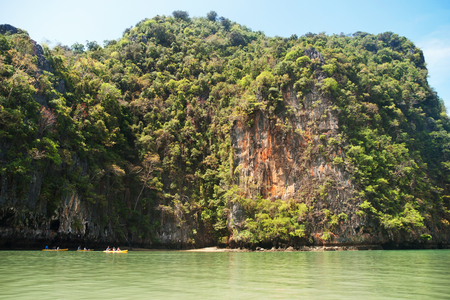 holiday movies: Khao Phing Kan is a pair of islands on the west coast of Thailand, in the Phang Nga Bay, Andaman Sea, near Phuket Stock Photo