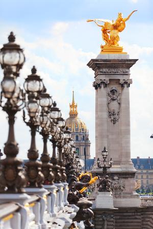alexandre: Pont Alexandre III at daylight, Paris