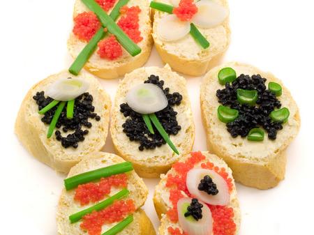 caviar: Sandwiches with Caviar