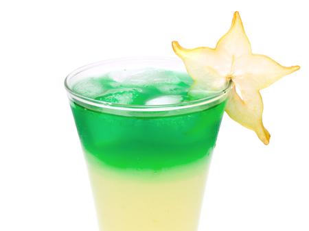 oz: Alien Sky is made of: 1 oz White Rum 1 oz Cherry Brandy  34 oz Blue Curacao  4 12 oz Pineapple Juice  3 oz Orange Juice Stock Photo