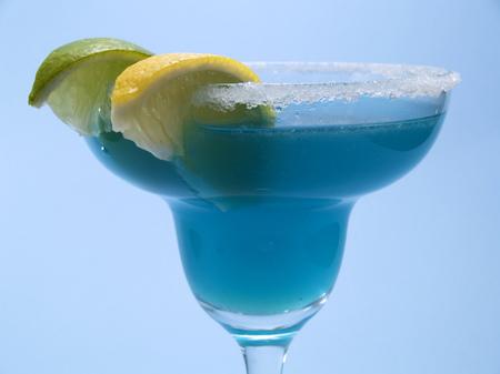 oz: Ingredients:  1 12 oz tequila 1 oz Blue Curacao liqueur 1 oz lime juice coarse salt