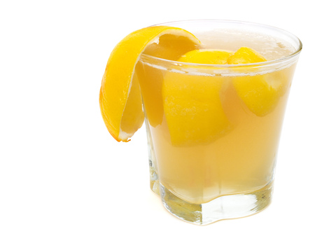 sidecar: Sidecar cocktail is made of: 1 12 part brandy 1 part cointreau 1 part lemon juice Stock Photo