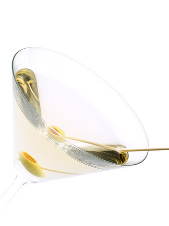 The classical, dry martini should be made with dry vermouth and be garnished with green olives.