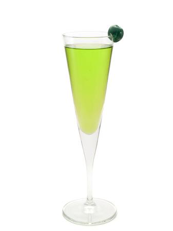 oz: Ingredients:   1 oz dry gin  1 oz vermouth  apple shnapps  maraschino cherry