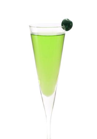 vermouth: Ingredients:   1 oz dry gin  1 oz vermouth  apple shnapps  maraschino cherry