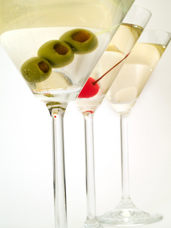 sweet vermouth: There are many variations of martinies. Those three are the most popular - dry, sweet and medium. The classical, dry martini should be made with dry vermouth and be garnished with green olives. The sweet martini is made with sweet vermouth and garnished w