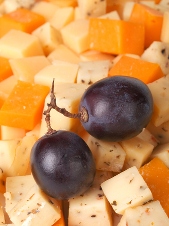 image created 21st century: Cheese with grapes