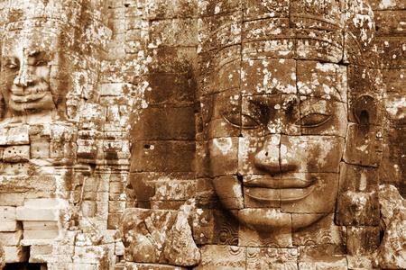 siem reap: Bayon Temple in Angkor Thom, Angkor district, Siem Reap, Cambodia