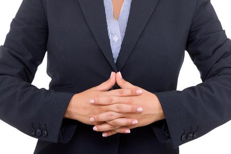 dressing up costume: Public speaker in a dark costume, making hand gesture for better speaking