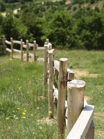 A wooden fence in the bulgarian mountain Rila