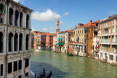 grand canal: Grand Canal in Venice, Italy. Shot in the morning Stock Photo